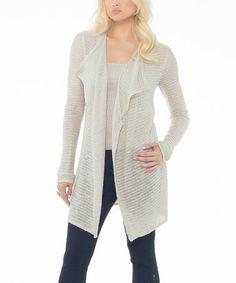 Another great find on #zulily! Sand Dune Glitter Open Cardigan #zulilyfinds