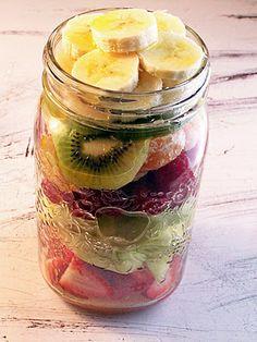 Layered Mason Jar Fruit Salad