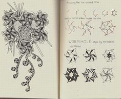 Wormhole-tangle pattern | by molossus, who says Life Imitates Doodles