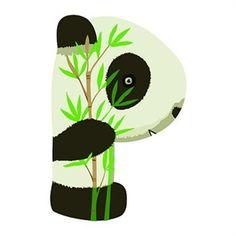 """Wooden letters. E se volessi scrivere il mio nome con gli animali? Questo panda per esempio è una splendida lettera """"P""""! Tutta in legno naturalmente. Scopri le nostre lettere in legno su http://www.giochiecologici.it/c/57/lettere-in-legno"""