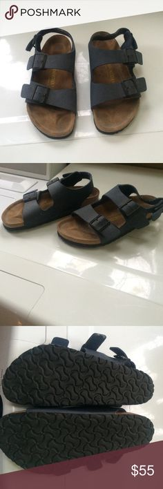 Perfect condition navy Birkenstocks Perfect condition navy Birkenstocks size 39 / womens 8 1/2 Birkenstock Shoes