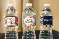 Water Bottle Labels - 3 Styles - Halloween - Free PDF Printable
