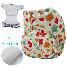 Reusable nappy Wateproof and Children washable reusable nappies one size pocket double leg gusset baby cloth diapers #Affiliate