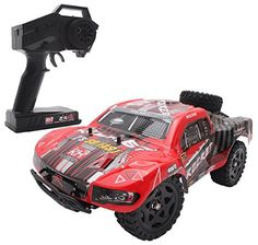 Cheerwing RC Truck High Speed Off-road Remote Control Car Short Course Truck Remote Control Boat, Radio Control, Rc Cars And Trucks, Pickup Trucks, Popular Toys, Thing 1, Four Wheel Drive, High Speed, Color Red