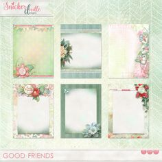 """Whether our friends are near or far-away, they can bring a smile to our face whenever we think of them.  They are """"happy spots"""" in our lives.  #Good Friends was designed in lovely, soft pastels, with just the right amount of color pop to add excitement to your pages. Several word art graphics are included in the kit to assist with page themes. (If you would like even more word strips or graphics, you will find them in the Good Friends Words pack.) On Sale 30% off - your Best Deal is on the…"""