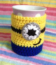 PATTERN - Despicable Me Minion Cup Cosy / Mug Hug Crochet Pattern. PDF File on Etsy, $2.92