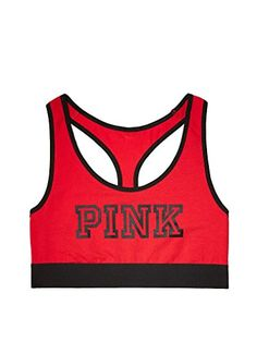 VICTORIAS SECRET Racerback cotton Bra Top Medium Red >>> Continue to the product at the image link.