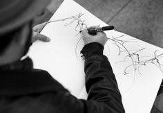 Jose Parla Sketches in Fort Greene Park