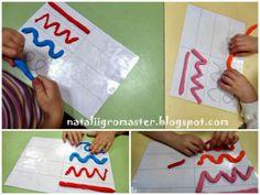 graphisme et pâte à modeler Toddler Learning Activities, Preschool Education, Kindergarten Activities, Prewriting Skills, Alternative Education, Montessori Materials, Pre Writing, Pre School, Fine Motor