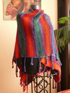 Handknitted Poncho by AuthenticBazaar on Etsy, $195.00