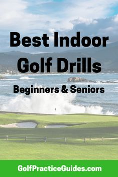 Golf Tips Best indoor golf drills for beginners and seniors. Try these putting drills and chipping drills at home to work on short game during the winter golf off-season. Each golf drill has instructions and tips on how to best complete your practice. Golf Chipping Tips, Golf Score, Golf Putting Tips, Golf Practice, Golf Videos, Golf Instruction, Golf Tips For Beginners, Golf Exercises, Perfect Golf