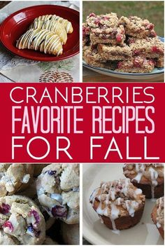 Tart cranberries are a fall favorite. These recipes are a great way to use up your leftover Thanksgiving cranberries or cranberry sauce - or to make just to impress your friends!