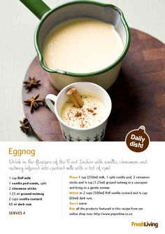 """Yup, #Christmas in SA is a heated affair, but it's still fun to follow those European traditions! Go """"old school"""" with creamy #eggnog on #Christmas Eve. #dailydish #xmas #picknpay"""