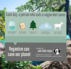 Veganism can save our planet. Worth making a change
