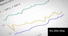 Die wichtigsten Faktoren bei der ETF-Auswahl. Line Chart, Diagram, Money Plant, Dots, Finance