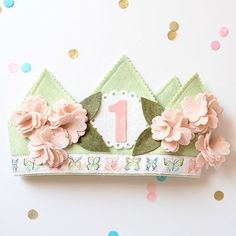 59 Trendy Baby First Birthday Decorations Project Nursery First Birthday Crown, Girl First Birthday, Birthday Fun, First Birthday Parties, First Birthdays, Birthday Crowns, Birthday Ideas, Mardi Gras, Crown For Kids