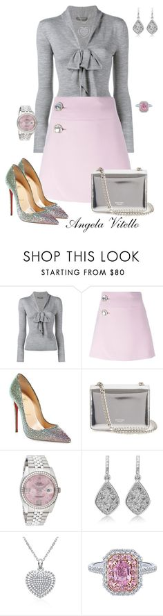 """""""Untitled #662"""" by angela-vitello on Polyvore featuring Alexander McQueen, Marni, Christian Louboutin, Rochas, Rolex, women's clothing, women, female, woman and misses"""