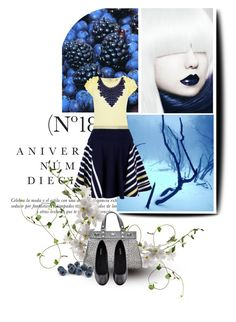 """Deep Winter"" by spicemarket ❤ liked on Polyvore featuring Sinclair, Ted Baker, Sacai, Stephen Mikhail, H&M, stripes, embellished tops, ballet flats, structured handbags and top handle bags"