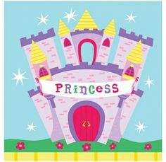 Castles & Princesses Paper Napkins - Girls Birthday Party Themes and Party Supplies Online India