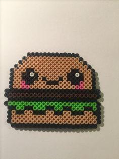 Hamburger, perler beads