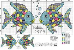 "Photo from album ""Schemi - Natalia/ Схемы - Natalia"" on Yandex. Snitches Get Stitches, Rainbow Fish, C2c, Cross Stitch Charts, Plastic Canvas, Needlework, Crafts For Kids, Applique, Baby Boy"