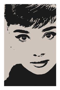 AUDREY HEPBURN - by avela Poster / Kunst Poster