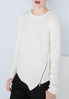 Asymmetrical Zip Sweater