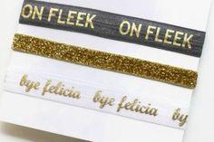 Bye Felicia headband set, On Fleek Headband, yoga headband, adult headband, workout headbands