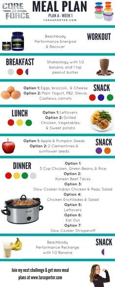 Core De Force Meal Plan - Week 1