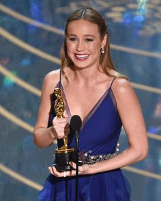 Brie Larson is this year's Academy Award winner for Actress in a Leading Role. She starred in Room the story of a woman and her son held captive for seven years. Follow TIME's full coverage of the Oscars on TIME.com.  Photograph by Chris Pizzello@ap.images. by time