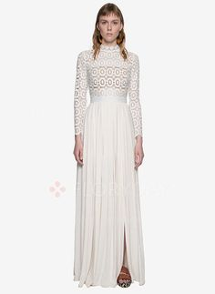 Dresses - $56.25 - Lace Others Long Sleeve Maxi Vintage Dresses (1955094757)