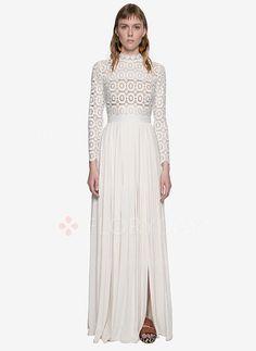 Dresses - $56.25 - Lace Others Long Sleeve Maxi Vintage Dresses (1955094757)
