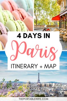 This Paris travel guide has everything you need to spend 4 days in Paris. My Paris itinerary for first time visitors is packed with Paris travel tips, from the best French cafes to Paris sightseeing spots. Plan a trip that includes all the best things to in Paris. | Planning a trip to Paris | What to do in Paris | Paris bucket list | Paris romantic things to do | Where to stay in Paris | Best restauarants in Paris | Best cafes in Paris | Paris Instagram spots | Paris France travel tips…