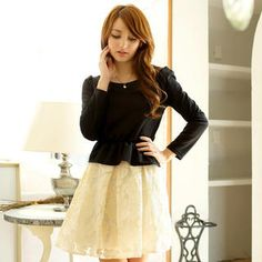 Buy 'Tokyo Fashion – Lace-Panel Peplum Dress' with Free International Shipping at YesStyle.com. Browse and shop for thousands of Asian fashion items from Taiwan and more!