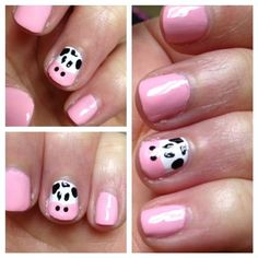 Cow Nails! :D @Ashley Long I want these when I find time to let you do my nailllssss. :)