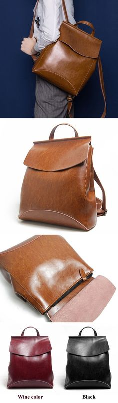 Women's Handmade Leather Backpack / Day Pack / Leather Satchel