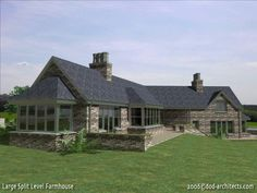Large residence in County Kerry Ireland, the building creates 3 distinct areas, semi private entrance and parking area, private Southern elevation (shown here) and a commercial area. There is no visual contact between the three areas. House design: dod architects Simple Style, Architects, Entrance, Ireland, Commercial, Southern, Cabin, House Design, House Styles