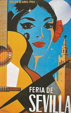 "Vintage Poster ""Feria de Sevilla"" by Otomodachi on Flickr"