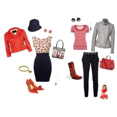 """First Polyvore - Kibbe Gamine"" by marguerita3 on Polyvore"