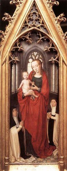 St. Ursula Shrine: Virgin and Child - Hans Memling