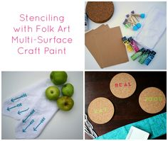 Multi-surface pretty paints, blogger-made stencils, and a crafty giveaway! - DIY made with Handmade Charlotte's stencils - click thru for the full craft tutorial! @Juanita Martin Charlotte #folkartmulti