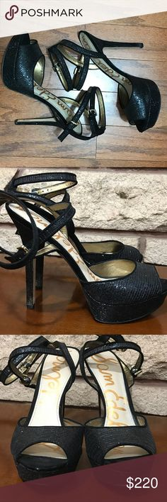 Same Edelman Heels 🌑Gorgeous Heels featuring a double buckle and sparkle  🌘In great condition, just showing wear on tips of Heels   🌗Material: Sequined  🌖Size 10                                                                                   🌕Offers Welcome 🌔Fast shipping 🌓Sorry, no trades 🌒Bundle and save 30% off two or more items 🌑Free gift with every purchase Sam Edelman Shoes Heels