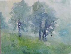 Zuzana Bobovská-Bošková - Hmlisté ráno, akryl, 2014, 27x35 cm, cena - 150€
