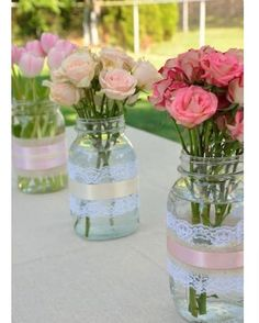 Lovely centre pieces ��������  http://gelinshop.com/ipost/1516265214650270969/?code=BUK2y3ggsT5