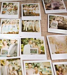 Wedding Idea: Chalkboard Messages in Polaroid Pictures guestbook mini