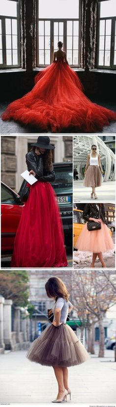 Fashionable outfits Tulle Clothing