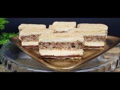 Prăjituri/Rulade 🍰 🧁🍥🍫 - YouTube Romanian Desserts, Striped Cake, Tiramisu, Cake Recipes, Caramel, Ice Cream, Sweets, Ethnic Recipes, Blog