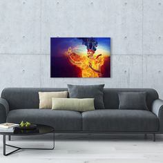 Suspense Make a statement with this vivid and striking Suspense canvas print. The eye-catching artwork makes an attractive piece of contemporary decor. Printed on galler...