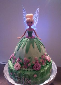 tinkerbell cakes images | Cake Decorating Ideas | Project on Craftsy: Tinkerbell Cake #FairyCakes,Yummy!