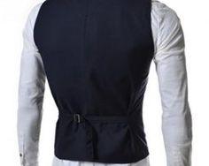 Kvalitná dvojitá pánska vesta ku obleku v modrej farbe Apron, Vest, Jackets, Dresses, Fashion, Pinafore Apron, Down Jackets, Vestidos, Moda